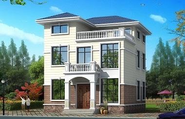 小户型两层半自建房屋设计图,8.64m*11.12m,温馨美观