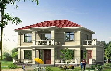 超高人气的红房顶二层小别墅设计图,近几年非常流行的方案设计