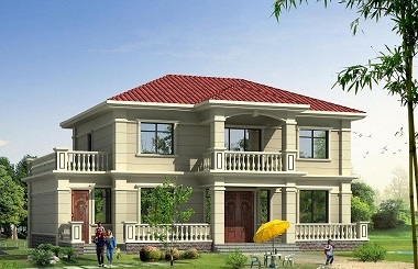 二层现代小别墅设计图,非常符合现代农村大多数家庭使用需求