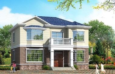 精品小户型二层自建房屋设计图,采光良好,占地124平方米,造价合理