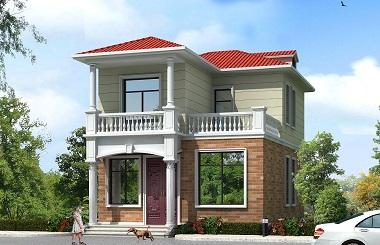 小户型二层自建别墅设计图,美观精致,造价17万左右