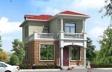 小户型自建房屋设计图,占地88㎡左右,配色经典
