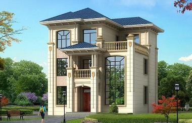 11m*11m三层小户型自建房屋设计图,占地110平方米左右小户型自建别墅