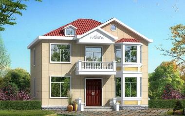 13*12m二层小户型自建房屋设计图,房间数量较多