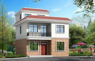占地86㎡的小户型二层自建房屋设计图,平顶设计,可做露台