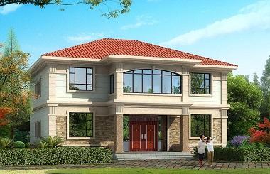 新年最受欢迎的一款二层小别墅设计图,14.5m*11.6m