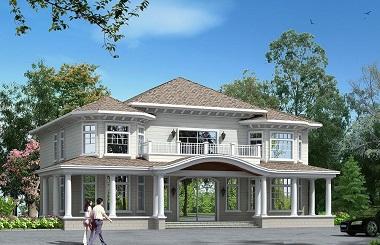 高端二层自建复式别墅设计图,占地面积较大,空间宽敞