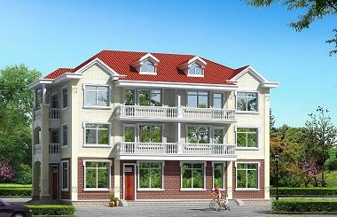 占地260平方米三层双拼自建别墅设计图,经济实用