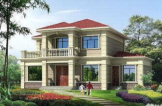 15.6m*10.6m二层自建房屋设计图,含全套完善施工图纸