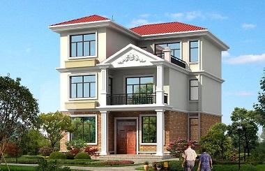 小户型三层自建房屋设计图,10m*14m,简单实用
