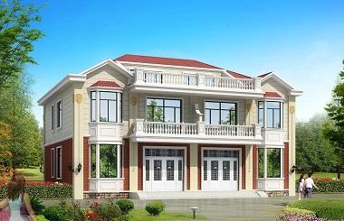 一梯两户二层双拼别墅设计图,非常适合父母和子女同时居住