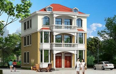 9.84m*15.27m小户型双拼自建房屋设计图,布局合理,销量超高