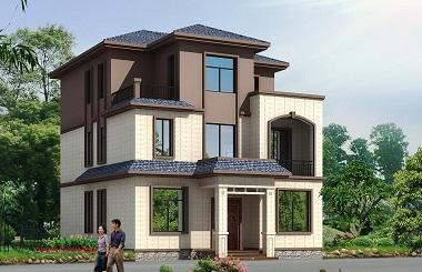 10*13m中式三层自建房屋设计图,配色经典,造价合理