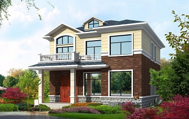 采光良好的精致二层小别墅设计图,占地123平方米,小户型经济实用
