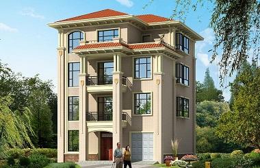11.5m*17m四层自建房屋设计图,一梯多户,每层都带有厨房