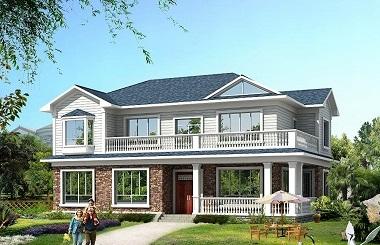经典二层自建小别墅设计图,精致美观,自建房屋首选