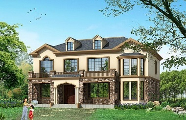 古典二层复式自建房屋设计图,含全套完善施工图纸,经济实用