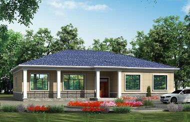 20m*15m一层自建房屋设计图,造价30万左右,一层精品别墅