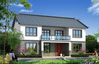 中式二层小户型双拼自建房屋设计图,美观精致,非常适合建在江南一代