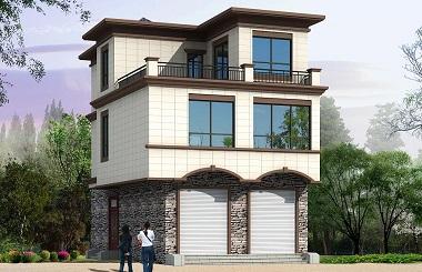 7.2m*13.2m小户型三层自建房屋设计图,一楼可做门市
