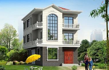 一梯多户小户型三层自建房屋设计图,带有室内车库
