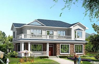 超高人气二层海滨小别墅设计图,占地170平方米左右,美观精致