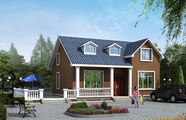 一层自建房屋设计图,带有地下室和阁楼,小户型,经济实用