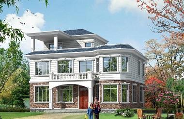 二层半自建房屋设计图,占地145平方米左右,造价35万