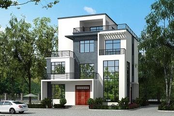 中式平顶四层自建房屋设计图,经济实用,采光良好
