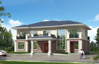 采光通风良好的高端二层自建复式别墅设计图,面积较大,适合大家庭居住