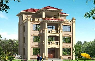 欧式四层复式自建房屋设计图,高端大气,