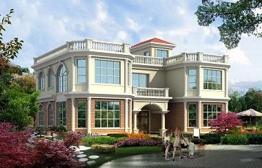 16.7m*11.5m二层自建房屋设计图,造价40万精品房屋