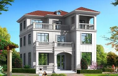 现代简约三层自建房屋设计图,11*13m,小户型,布局完善