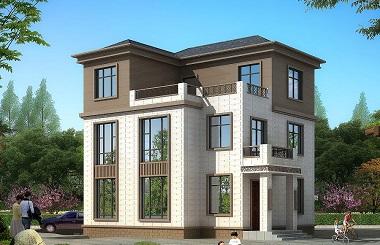 新中式三层自建房屋设计图,带有地下车库,占地106㎡