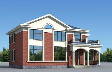 简单实用的二层自建小别墅设计图,占地171平方米,造价30万左右
