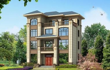 占地123平方米的四层自建房屋设计图,可多户同时居住