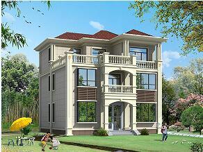 新年热销款三层自建房屋设计图,占地135㎡,造价40万左右