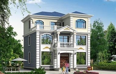 中式简约三层自建房屋设计图,占地142平方米,造价45万