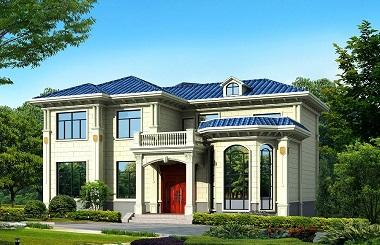 占地180平方米左右的二层自建房屋设计图,造价38万,经济实用