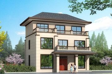 新中式三层自建别墅设计图,占地116平方米,小户型精品自建房屋