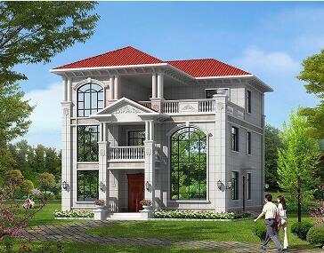 销量颇高的一款欧式自建三层复式别墅,高端大气