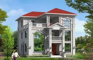 造价50万的自建欧式三层复式别墅设计图,含全套完善施工图纸