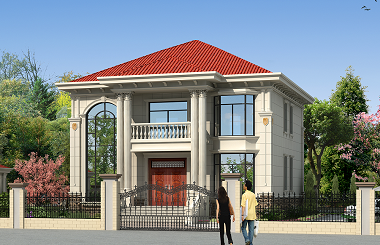 销量超高的一款二层复式小别墅设计图,带有配套庭院设计