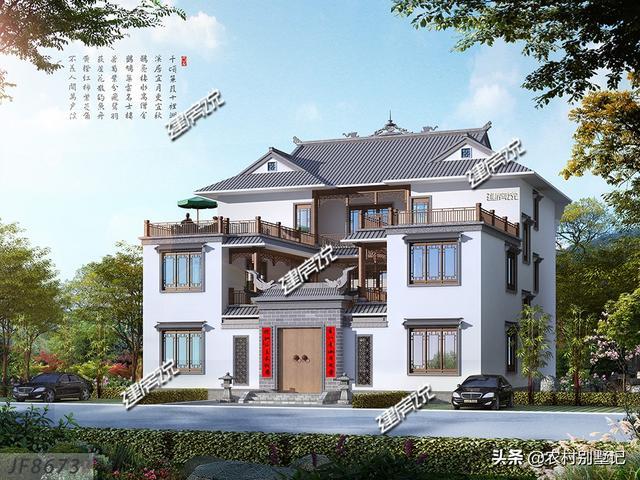 唯美大方的中式别墅,建一栋,过上向往的生活!