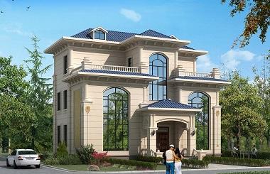 欧式三层复式自建别墅设计图,室内布局既美观又实用