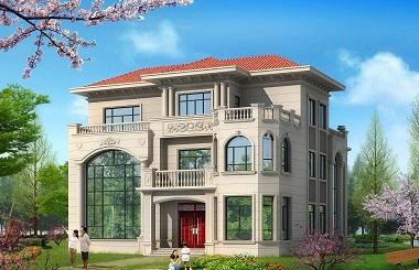 高端欧式三层复式自建别墅设计图,外观及布局美观大气,