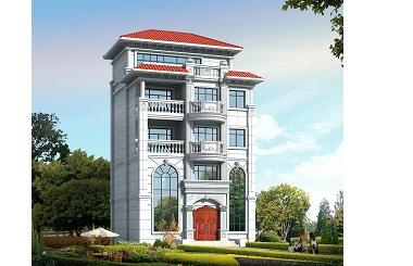 四层半自建别墅设计图,造价55万左右,小户型,经济实用