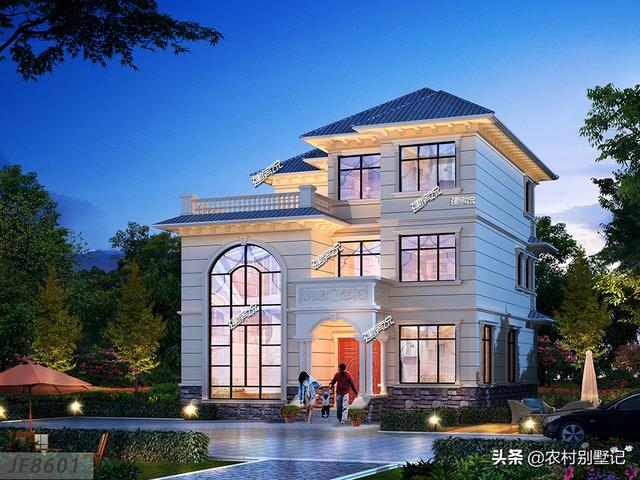 建筑面积340平的一款农村别墅,空间宽敞,非常适合大家庭居住!