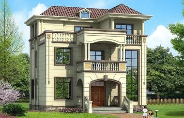 精品欧式三层复式别墅设计图,自建房首选