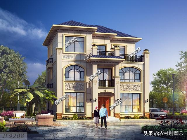 最划算的一款农村别墅,主体造价四十万左右,户型精致大方!